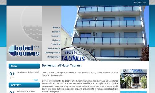 Il nuovo sito web dell 39 hotel taunus di riccione porta la for Design hotel taunus